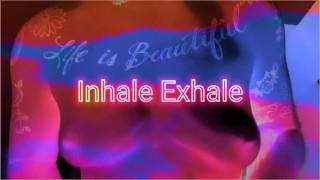 Inhale Exhale FTM Solo Nipple Play Big Erect Nipples Trans Man