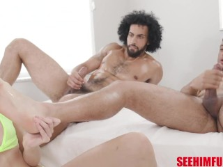 Big Dicks Studs Air Thugger & James Angel Take Sidra Sage In Some Hot Double Vag Action