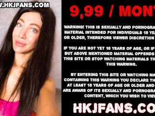 HKJFANS - Hotkinkyjo extreme anal dildo, gape and prolapse