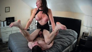 FIT MILF Wife gives Husband hard PASSIONATE ASS FUCK - Sensual Femdom STRAPON PEGGING - FV Onlyfans