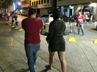 Stranger Controls my Vibrator Lovense/ in Public square and makes me have a Big Squirt kathalina7777