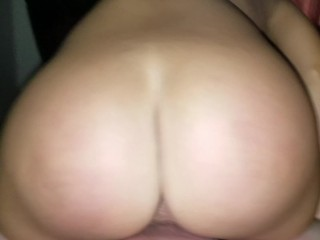 Pawg milf dripping creampie from her pussy
