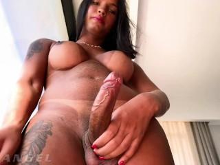 TranssexualAngel - Busty TS Julie Rouch Jacks Off Her Big Boner