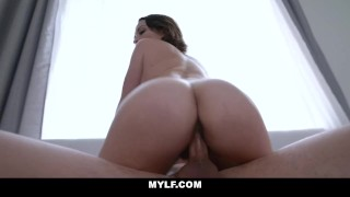 What is her pussy made of? Hot MILF takes throbbing creampie