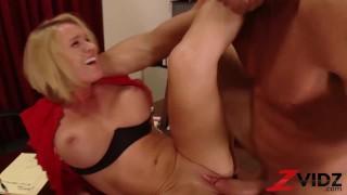 ZVIDZ - Busty Secretary Krissy Lynn Blows Dick Before Sex
