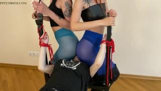 Lesbian Domination - Bondage, Double Facesitting, Whipping, Ass Worship, Smother