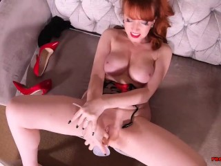 Hot busty MILF Red XXX is really fucking horny