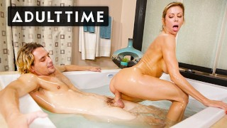 ADULT TIME - Titty Fucking Alexis Fawx In The Bath For My Nuru Massage