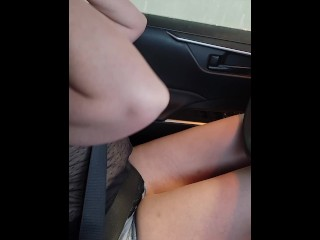 I Flashed the Guy at the Car Wash in a Sheer Shirt and Then Played With My Tits and Pussy in Public