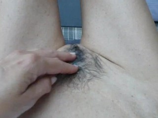Please fuck me fast and cum on my hairy pussy
