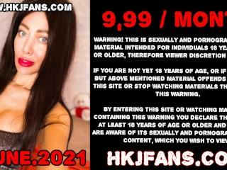Hotkinkyjo extreme anal prolapse, fisting & cobra dildo