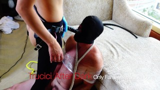 Sexy Asian Femdom Dominatrix Yana Fucks and Pegs Her Sissy Anal Slave Ass To Mouth with BBC Strapon
