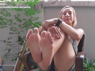 Feet Femdom JOI & POV Foot Worship & Humiliation for Liana Serpenta