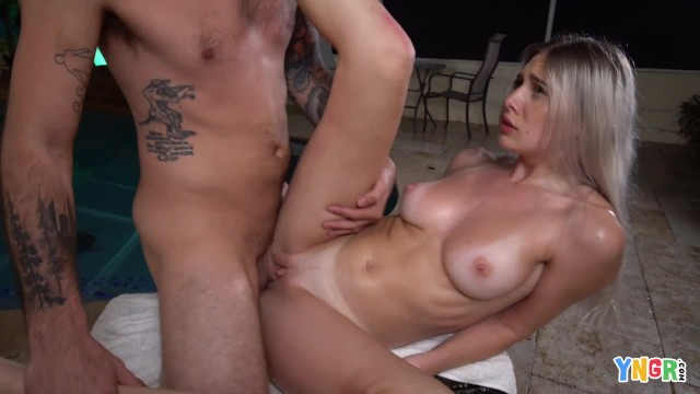 YNGR - Beautiful Bri Klein Gets Her Pussy Fucked By The Pool