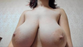 Hot wet Myla_Angel presses and squeezes her big beautiful boobs!