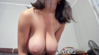 Hot Myla_Angel wants hot sex, but has no partner. Plays her boobs, pussy, in bra and naked