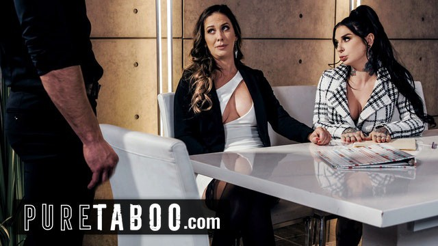 PURE TABOO Dante Colle Helps His New Bosses Cherie DeVille and Joanna Angel Squirt At Work