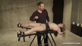 Maledom Dominates Submissive Bound Brunette With Electricity And Dildos