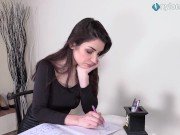 Leggy brunette in pantyhose perfect ballet flats shoeplay tamil sex homemade