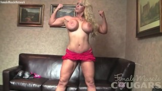 Amazon Alura shows off her fit body and huge tits
