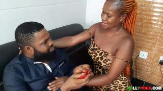 Student Appreciates Lecturer With Long Sex For Scoring Her High After Her Final Year Exams