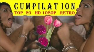 IMMORTAL TOP 20 CUMPILATION she finishes blowjob HD 1080 blowjobs classic movies retro POV lick cum