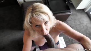Cheating Wife Bianca Jaguar Sucks Black Cock and Takes Huge Load On Her Big Tits