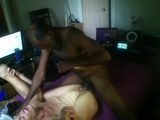 Thot in Texas - Interracial Latina Hairy Pussy MILF