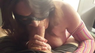Cum Craved Milf titty fucks the cum right out of her step son.
