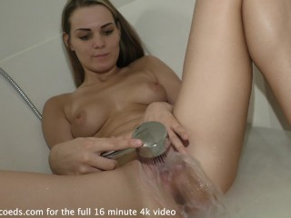 beautiful becky berry shaving her hairy pussy then amazing pussy water fountain
