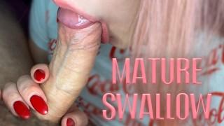 Big Natural Tits Girl Sensual Sucking Big Cock until Cum - Homemade
