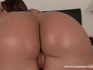 Femdom face sitting ass worship ass licking and pussy eating worship with big butt PAWG upskirt POV