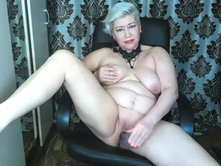 Mature dirty slut pounds her pussy and ass with huge dildos in private show! This whore is my wife!