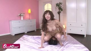 [OURSHDTV][中文字幕]Busty Runa Hanekawa the busty angel of sex got threesome creampied uncensored