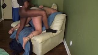 Cuckold shares slutty wife with black bull 2hot