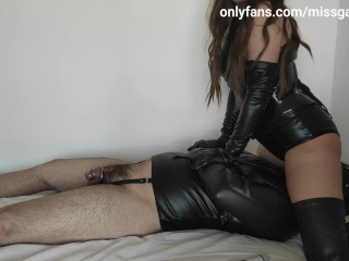 Male Tied Up Slut Gets Used, Facesitted & Ruined By Leather Goddess