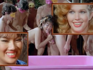 Mai Lin & Serena VINTAGE ORAL ORGY retro Cumshot Gangbang Asian Blowjob cum mouth facial 2 girls BJ