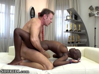 Zaawaadi's First POV Casting With Big Cumshot In Her Mouth