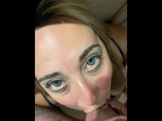 Horny MILF Chokes on Big Dick and takes Huge Facial – Vanessa L Summers