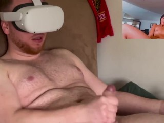 VR   BIG 9 Inch Dick EXPLODES with CUM in Emily Willis' TIGHT Pussy