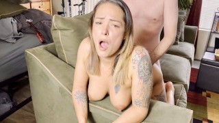Sexy selfie whore with big booty strips and fucks boyfriend - TuberTots