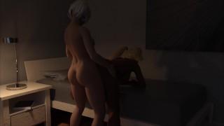 FUTA 2B Sexy Busty Babe Inserts her Huge Cock from Behind Waifuta [v0.6] [Tiltproofno]