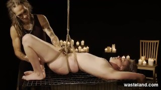 Punk Teen Blonde Dominated By Maledom Master With Ropes And Magic Wand Vibrators