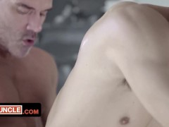 Horny Stepdad Fucks His Twink Stepson After Catching Him Searching For A Top On Grindr