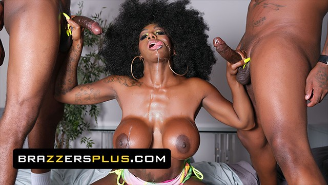 Brazzers - A Double Facial Is A Must In Ebony Mystique's Daily Skin Care Routine