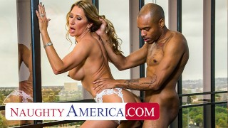 Naughty America - Sloan Rider gets dicked down by employee's big black cock