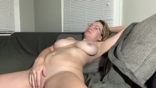 This filthy nice tits milf with glasses loves to masturbate for you