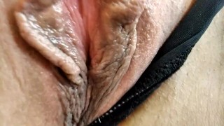 Wet mature pussy close up & another games with wife's holes ))