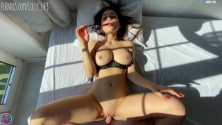 cutie with big boobs sucks and fucks my dick eagerly