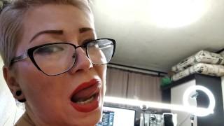 Mature Glasses Handjob